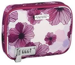 Vaultz Locking Everyday Case For Cosmetics Storage, Purple Floral Vz03750 - $20.37