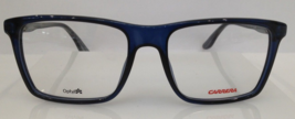 Carrera CA 6637 Grey Blue 6R6 Plastic Eyeglasses Frame 52-17-145 Authent... - $115.83