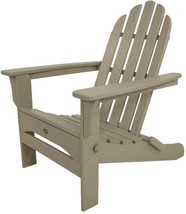 Adirondack Chair Folding Low Maintenance Weather Resistant Plastic Sand ... - $257.65
