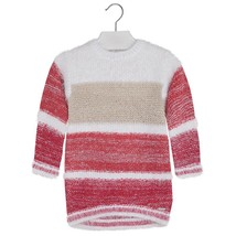 Mayoral Little Girls 2T-9 Colorblock Stripe Soft Fuzzy Knit Sweater Dress