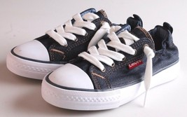 New Levi's Denim Blue Girls Stan G Canvas Sneakers Gym Shoes New in Box 1091100