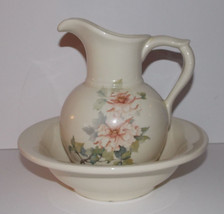 McCoy Pottery Floral Pitcher & Basin Bowl USA 7... - $29.99