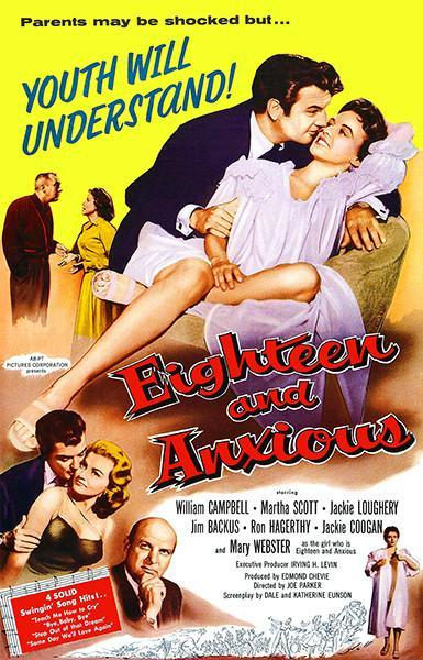 Primary image for Eighteen And Anxious - 1957 - Movie Poster