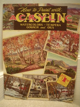 Walter Foster How to Paint with Acrylic Watercolors Tempera Gouach Oils Vtg 60s - $4.99