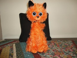 HALLOWEEN CAT Schurman Google Eyes Orange Plush Black Velvet RARE  - €52,32 EUR