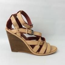 Coach Wedges Dawn Sandals Strappy Soft vegan leather size 7.5 Beachwood - $94.05