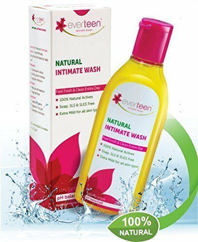 Everteen Feminine Natural Intimate Wash Soap SLS & SLES Free100% Natural Actives