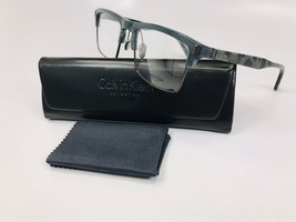 New Calvin Klein CK8555 314 Green with Green Marble Eyeglasses 54mm with Case - $59.35