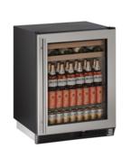 "U-Line  U-1024BEVS-00B 24"" Undercounter Beverage Center Stainless w/Glass - $900.85"