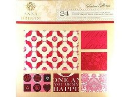 """Anna Griffin Valentina Collection Cardstock 12x12"""", 24 Double-Sided Sheets"""