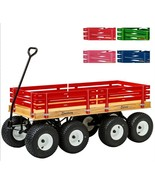 """DOUBLE TANDEM WAGON - LARGE 58"""" Off Road All Terrain Cart 13""""x 6"""" Turf T... - $749.97"""