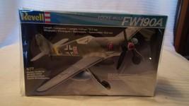 1/72 Scale Revell German Focke-Wulf FW190A Airplane Kit BNOS #4122 - $22.28
