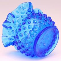 Vintage Fenton Art Glass Colonial Blue Hobnail Small Rose Bowl image 3