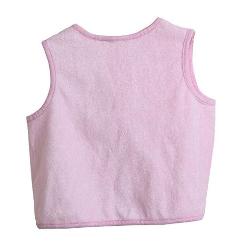 Cute Waterproof Sleeveless Baby Bib Baby Smock Baby Feeding Bibs PINK, 0-2 Years