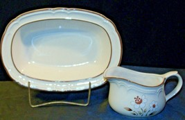 Cumberland Stoneware Mayblossom Gravy Bowl & Serving Pitcher AA-192035-E  Vintag image 2