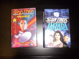 lot of 2 science fictionHardcover book Star trek Next Generation new fro... - $14.99