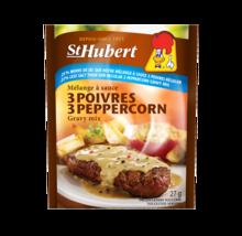 24 Pack St Hubert 3 Peppercorn 25% Less Salt Gravy Sauce Mix 27g Fresh Delicious - $48.78