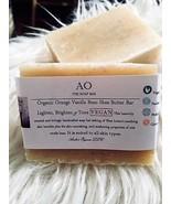 Organic Orange Vanilla Bean Shea Butter Bar Lighten, Brighten & Tone VEGAN - $3.50