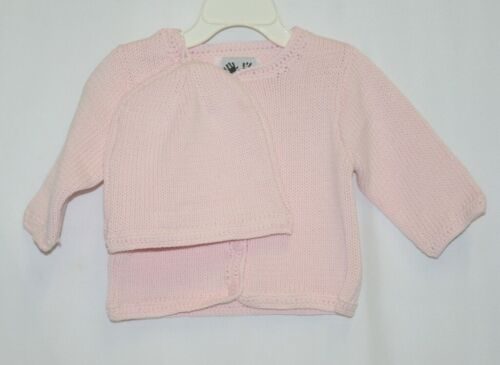 Finger Prints New York Pink Long Sleeve Sweater Matching Beanie 6M