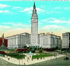 Vtg Carte Postale Cleveland Ohio Oh Publique Sqauare Et Terminal Tour Ne... - $4.94