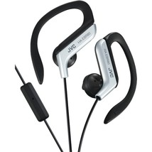 JVC HAEBR80S In-Ear Sports Headphones with Microphone & Remote (Silver) - $31.15