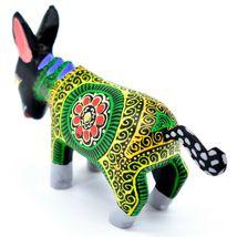 Handmade Alebrijes Oaxacan Wood Carved Painted Folk Art Donkey Burro Figurine image 3