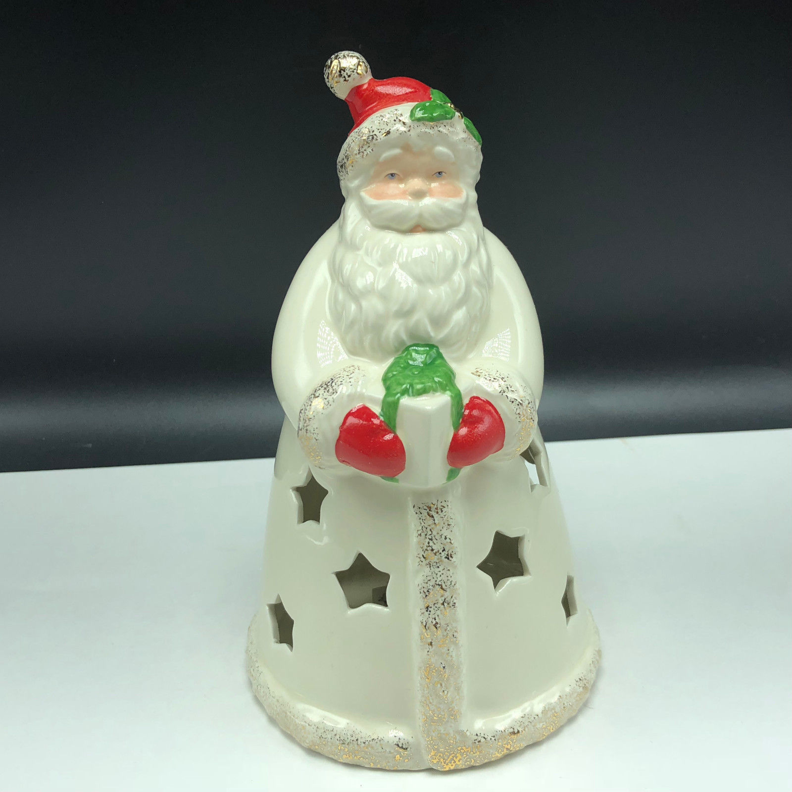 LENOX COLOR CHANGING SANTA CLAUS FIGURINE seasons sparkle nib box Christmas gift