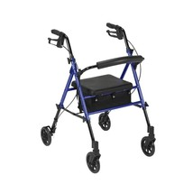 Drive Medical Adjustable Height Rollator With 6'' Wheels Blue - $92.70
