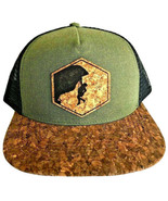 Rock Climber Unisex Cork Snap Back Vegan Cap Trucker Hat San Diego Cork ... - $39.55