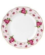 Royal Albert New Country Roses Vintage Formal Dinner Plate, White/Pink - $49.88