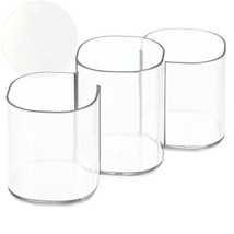Interdesign Clarity Cosmetic Organizer Trio Cup Vanity Cabinet To Hold New - $42.94
