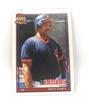 1991 Topps Baseball Card #117 - Dion James - Cleveland Indians - OF - $0.99