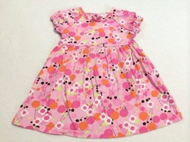 Hanna Andersson Girl's Dress-HOT PINK RUFFLED FLORAL-4T-NWT