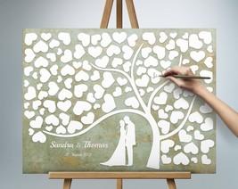 Wedding tree guest book alternative Vintage Shabby-Chic Boho Hobo Person... - $49.00+