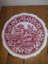 "10 1/2"" Dinner Plate Copeland England Cranberry Red Spode Tower - $23.74"
