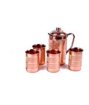 Pure Copper Silver Touch Jug & 4 Glass Set - $56.31