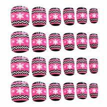 24 Pcs Fashion Nails Stickers Beautiful Nail Decorations False Nails Tips [K]