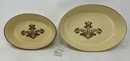 "Set of 2 Pfaltzgraff ""Village"" USA Oval Baking Dishes / Baker #241, #240 - Nice! - $18.99"