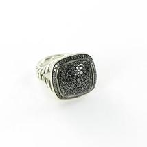 David Yurman Albion 14mm Pave Black Diamond Ring 1.06cts Sterling Sz 6 New $2200 - $1,382.25