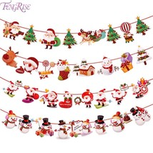 Christmas Banner Wall Hangings Merru Cristmas Decoration For Home - $9.99