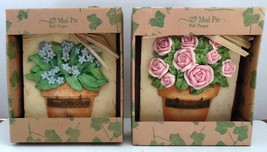 2 Mud Pie Wall Plaques * New * Roses & Forget-Me-Nots - $11.00