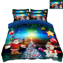 3D Christmas  Xmas 0012 Bed Pillowcases Quilt Duvet Cover Set Single Que... - $90.04+