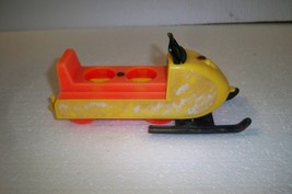 Vintage Fisher Price Little People Snowmobile - $12.59