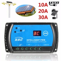 S10 PWM 12V/24V Auto LCD 10A 20A 30A Solar Panel Regulator Battery Charge - $18.58+