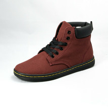 dbf9ab33ccd Dr. Martens Women  39 s Boots Maelly Cherry Red Canvas Padded Collar Size