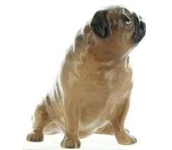 Hagen Renaker Pedigree Dog Pug Large Tan Ceramic Figurine image 7