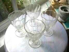 Set of 4 Cabaret Sherbet Glasses Italy Ice Cream Glasses - $11.88