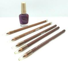 Jordana Lip & Nail Kit Lip 5 Full Liner Sticks, 1 Bottle Purple Glitter ... - $11.30
