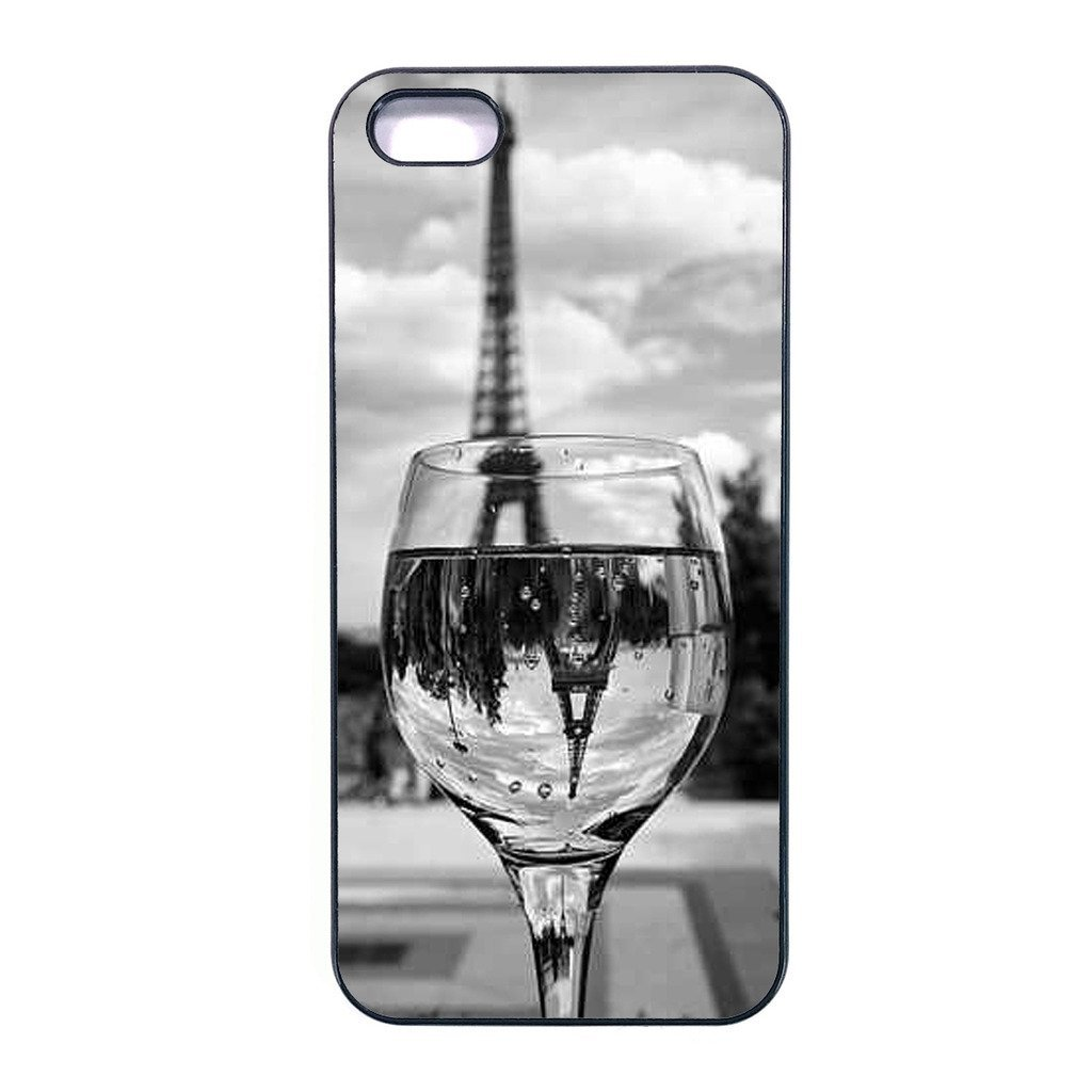 Coloful wine with Paris Iphone 6s plus case Customized Premium plastic phone cas