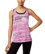 Material Girl Womens Active Juniors' Braided-Back Graphic Tank Tops - $19.88